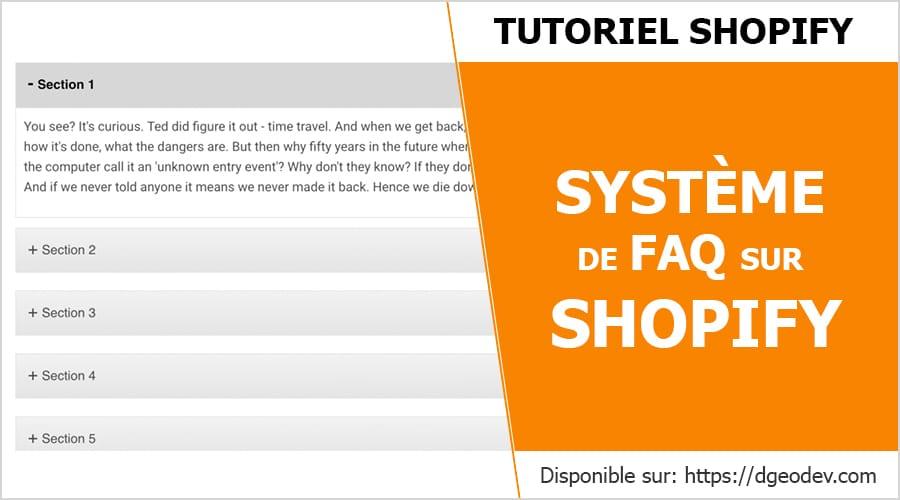 Tuto créer un système de FAQ sur shopify