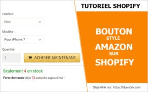 Tuto Comment Faire un Bouton Amazon sur Shopify
