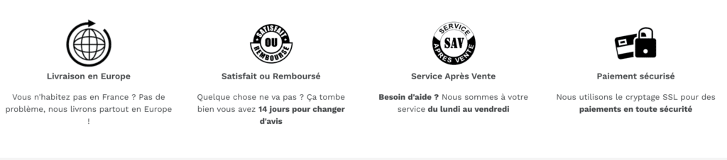 footer badges de confiance shopify